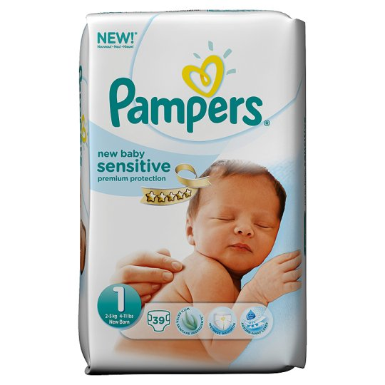 pers new baby sensitive size 1 essential 39 nappies groceries tesco groceries