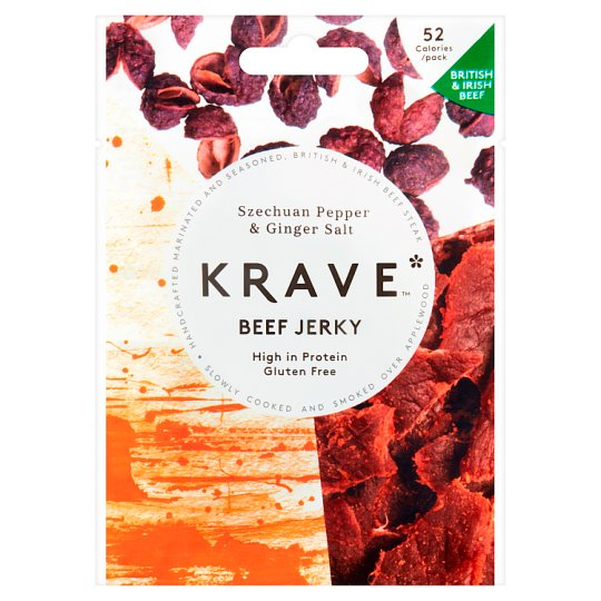 Krave Beef Jerky Szechuan Pepper And Ginger Salt 16G