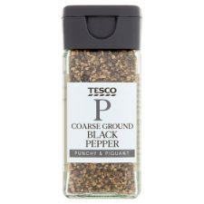 Tesco Coarse Black Pepper 50G