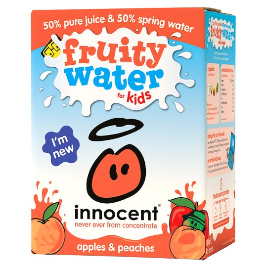Innocent Apple And Peach Fruity Water For Kids 4 Pack 180Ml