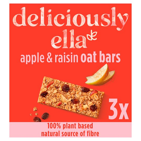 Deliciously Ella Apple And Raisin Oat Bar 50G X 3