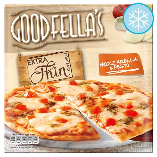 Goodfella's Extra Thin Mozzarella And Pesto Pizza 319G