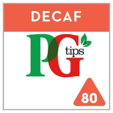Pg Tips Pyramid Decaffeinated 80 Teabags 232G