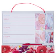 Tesco Scarlet Posy Weekly Wall Planner