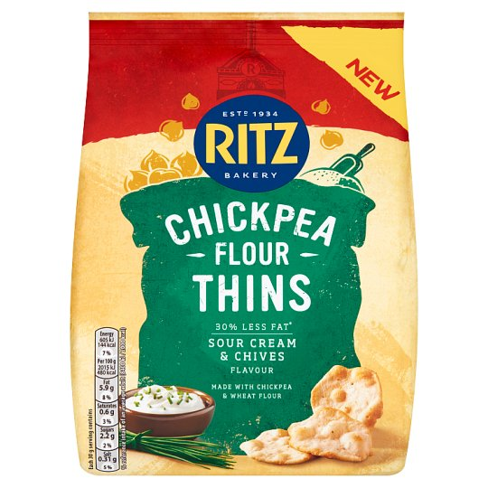 Ritz Thins Chickpea Sour Cream And Chive 100G