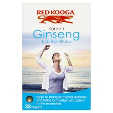 Red Kooga Ginkgo Biloba And Ginseng 32'S