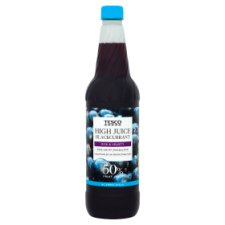 Tesco High Juice Blackcurrant Squash No Added Sugar 1L