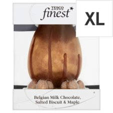 Tesco Finest Belgian Milk Choc, Salted Biscuit And Maple Egg 360G
