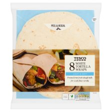 Tesco White Tortilla Wraps 8 Pack