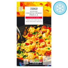 Tesco Seafood, Chicken And Chorizo Paella 700G