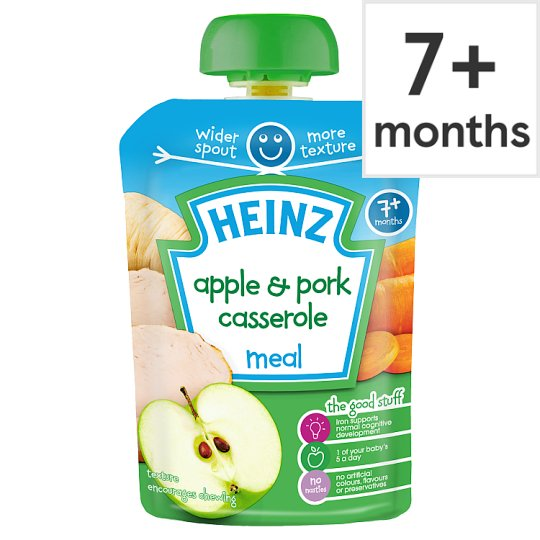 Heinz Savoury Pouch Apple And Pork Casserole 130G