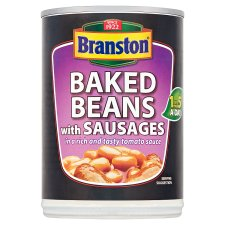Branston Baked Beans With Sausages In Tomato Sauce 405G