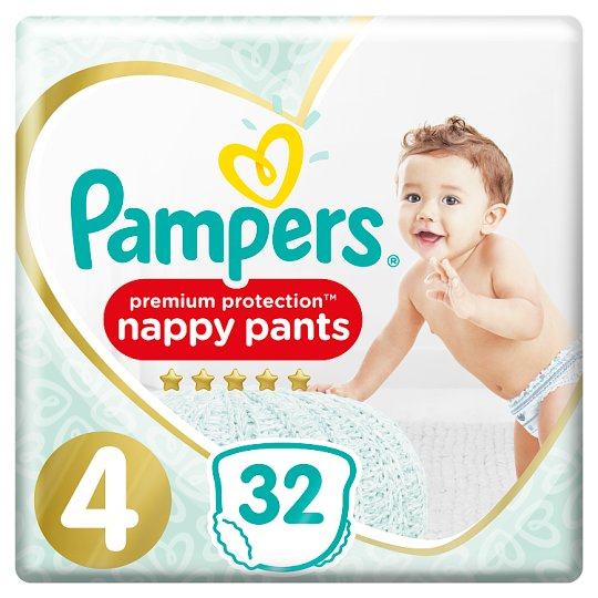 image 1 of Pampers Active Fit Pants Size 4 Essential Pack 32 Nappies