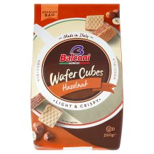 Balconi Wafer Hazelnut Cubes 250G