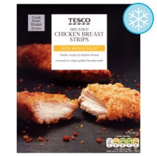 Tesco Breaded Chicken Breast Strips 300G