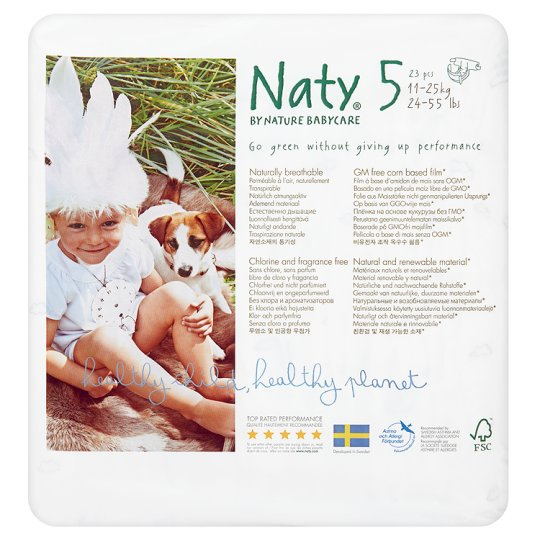 Nature Babycare Size 5 Large Nappies X23