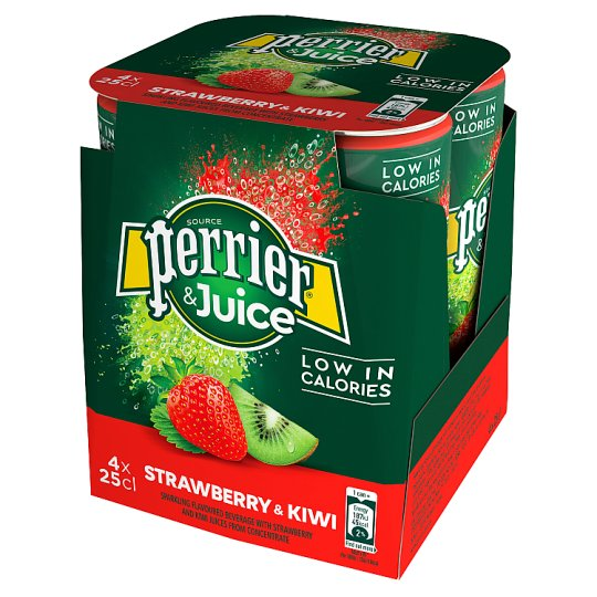 Perrier And Juice Strawberry And Kiwi 4X250ml