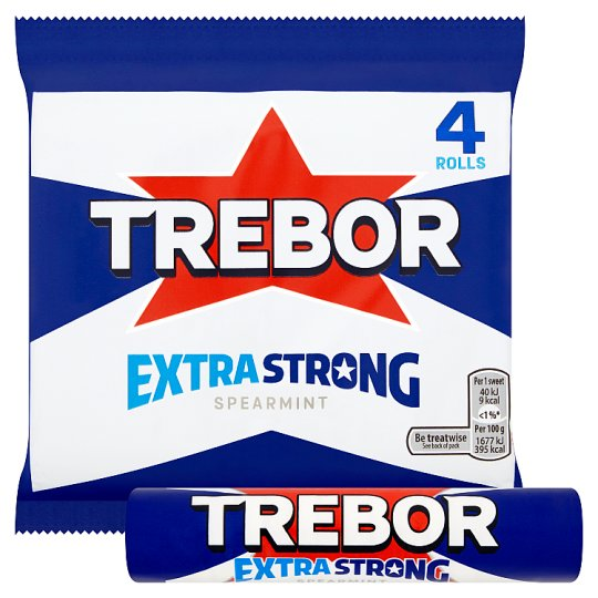 image 1 of Trebor Extra Strong Spearmint 4 Pack 165.2G