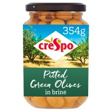 Crespo Pitted Green Olives 354G