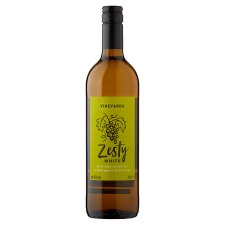 Tesco Zesty White Wine 75Cl