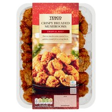 Tesco Garlic Crispy Breaded Mushrooms 400G