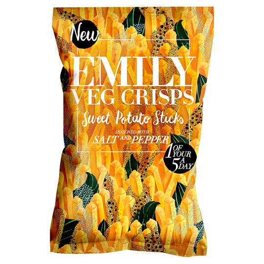 Emily Crisps Salt And Pepper Sweet Potato 100G