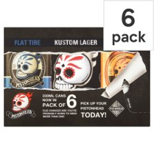 Pistonhead Mixed 6 Pack Craft Lager 330Ml