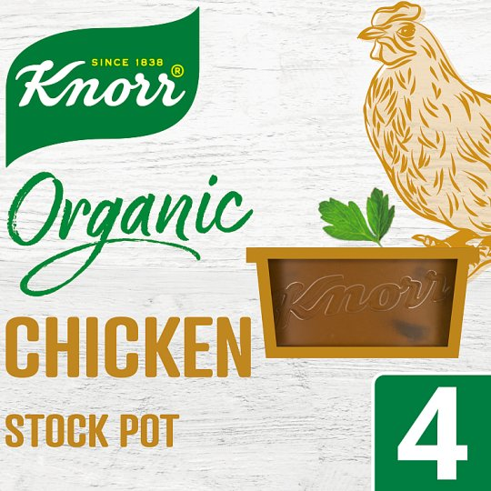 Knorr Organic Chicken Stock Pot 4X26g