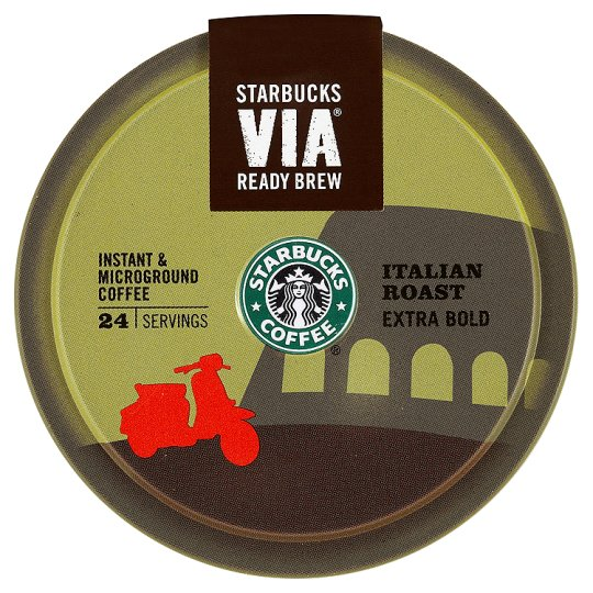 Starbucks Via Italian Roast Coffee 24 Serving 52G