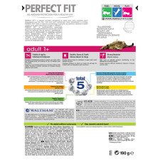 Perfect Fit 1+ Salmon Dry Cat Food 190G