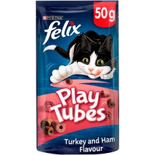 Felix Play Tubes Cat Treats Turkey&Ham 50G