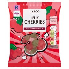 Tesco Jelly Cherries 75G