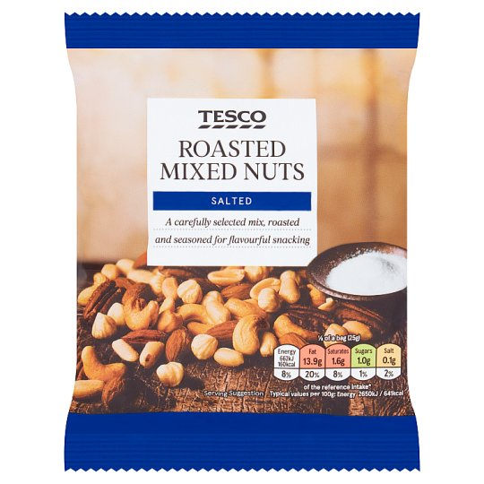 Tesco Roasted And Salted Nut Snacks 200G