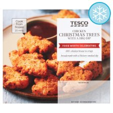 Tesco Chicken Christmas Trees With A Bbq Dip 300G