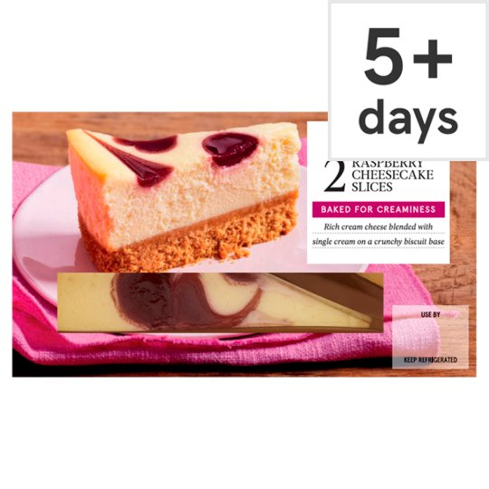 Tesco 2 Raspberry Cheesecake Slices 180G