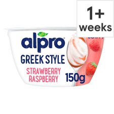 Alpro Greek Style Strawberry And Raspberry Yogurt 150G