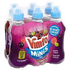 Vimto No Added Sugar Sportscap 6X250ml
