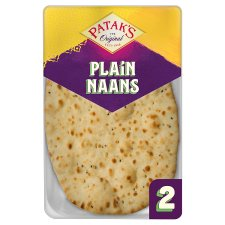 Pataks Plain Naan Bread 2 Pack