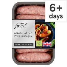 Tesco Finest 6 Reduced Fat Sausages 400G