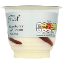 Tesco Finest Strawberry And Cream Mousse 100G