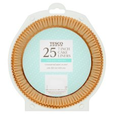 Tesco 7 Inch Cake Liners 25 Pack