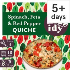 Higgidy Spinach Feta Red Pepper Quiche 400G