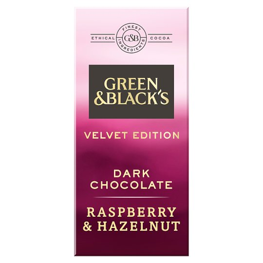 Green And Blacks Dark Raspberry And Hazelnut Chocolate 90G