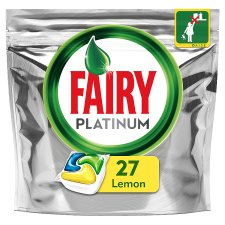 Fairy Platinum Lemon Dishwasher 27 Tablets 402G