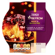 Tesco Free From Cherry And Almond Spng 200G