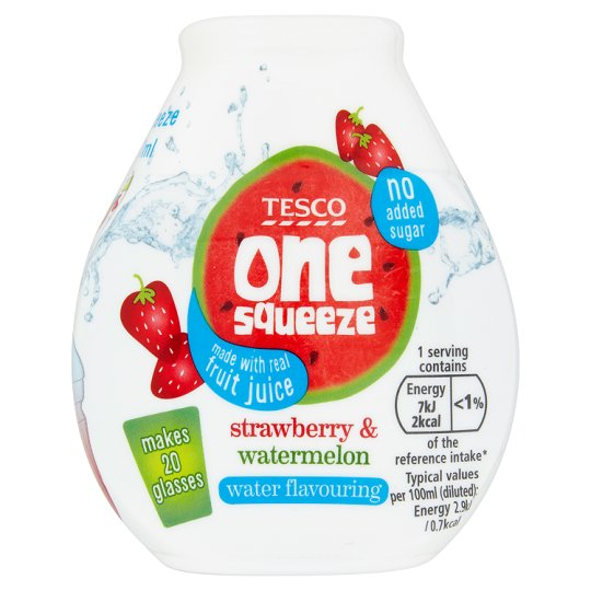 Tesco One Squeeze Strawberry And Watermelon 66Ml