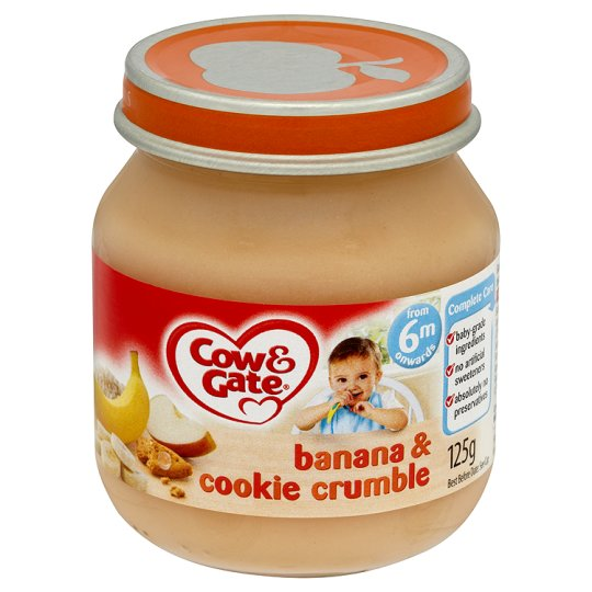 Cow & Gate Banana And Cookie Crumble Jar 125G 6 Mth+