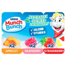 Munch Bunch Fromage Frais With Fruit Puree 6X42g
