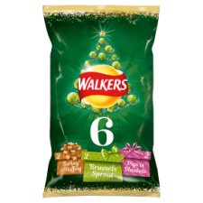 Walkers Christmas Sprout Lovers Crisps 6X25g