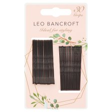 Leo Bancroft Hair Grips Black 30 Pack
